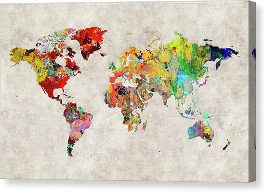 Canvas Print - World Map 29 by World Map
