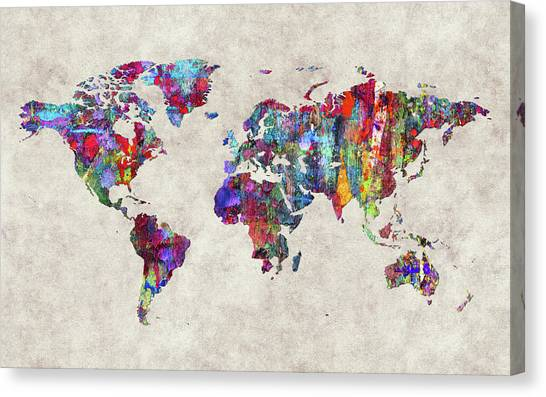 Canvas Print - World Map 30 by World Map