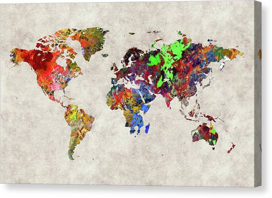 Canvas Print - World Map 31 by World Map