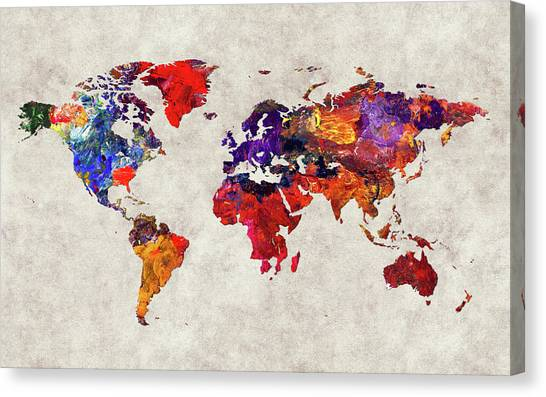 Canvas Print - World Map 32 by World Map