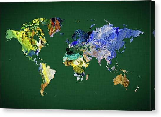 Canvas Print - World Map 33 by World Map
