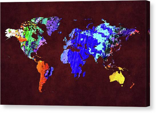 Canvas Print - World Map 34 by World Map