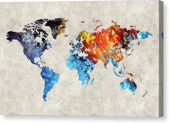 Canvas Print - World Map 35 by World Map