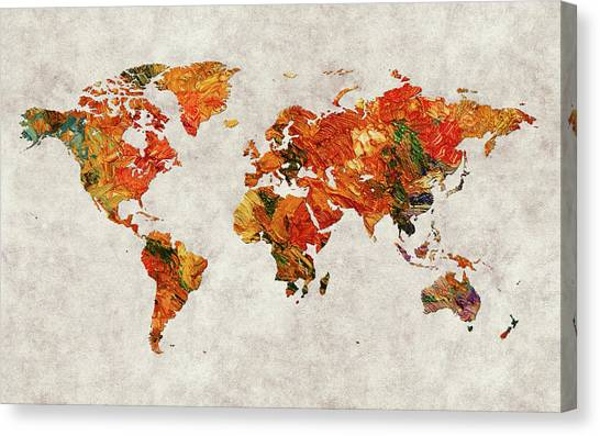 Canvas Print - World Map 36 by World Map