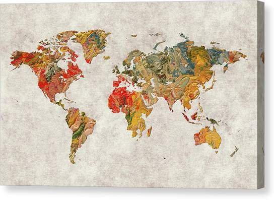 Canvas Print - World Map 37 by World Map