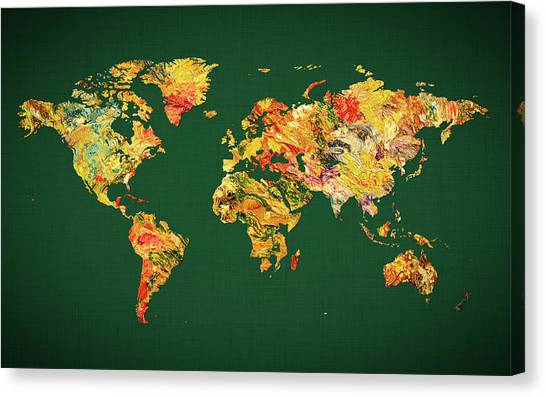 Canvas Print - World Map 38 by World Map