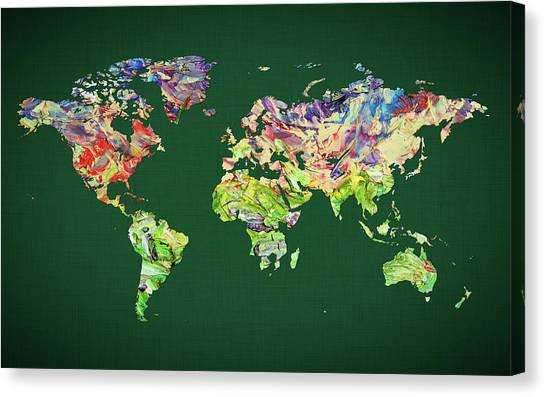 Canvas Print - World Map 39 by World Map