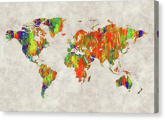 Canvas Print - World Map 40 by World Map
