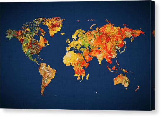 Canvas Print - World Map 41 by World Map