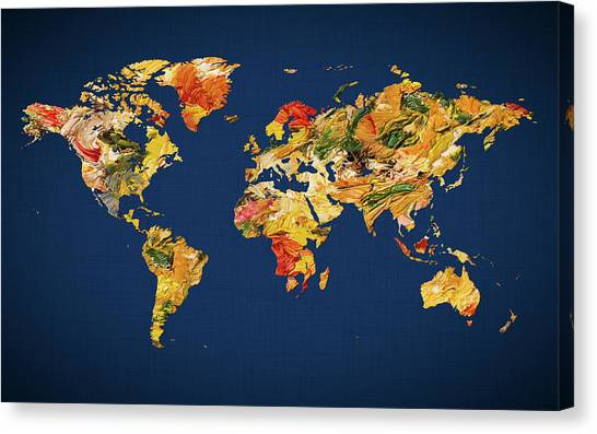 Canvas Print - World Map 42 by World Map
