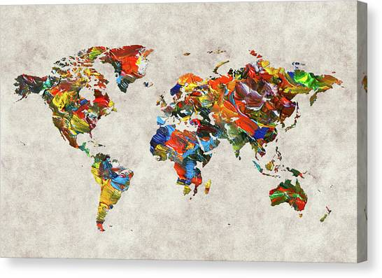 Canvas Print - World Map 43 by World Map