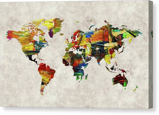 Canvas Print - World Map 44 by World Map