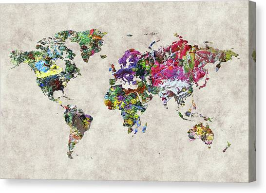 Canvas Print - World Map 45 by World Map