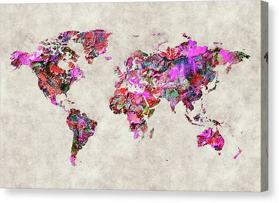 Canvas Print - World Map 47 by World Map