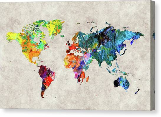 Canvas Print - World Map 48 by World Map
