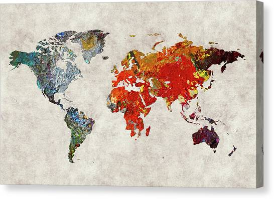 Canvas Print - World Map 49 by World Map