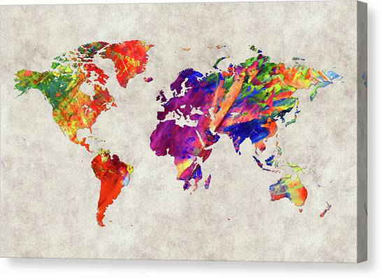 Canvas Print - World Map 50 by World Map