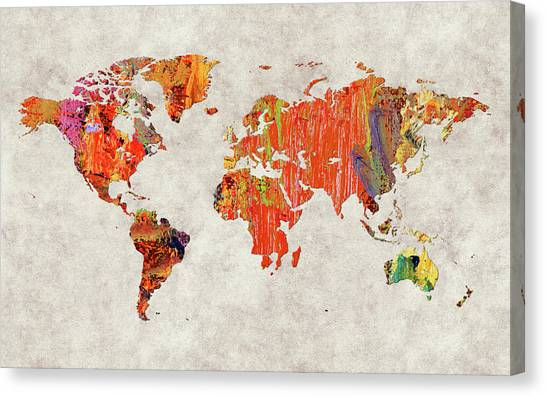 Canvas Print - World Map 53 by World Map