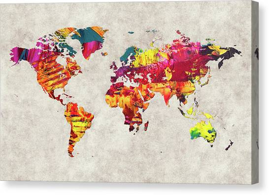 Canvas Print - World Map 55 by World Map