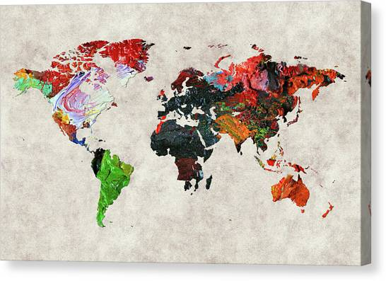 Canvas Print - World Map 56 by World Map