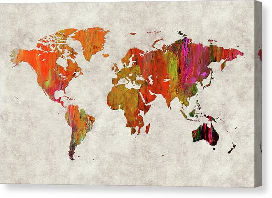 Canvas Print - World Map 57 by World Map