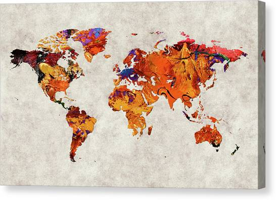Canvas Print - World Map 58 by World Map