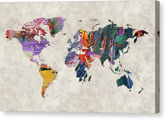 Canvas Print - World Map 59 by World Map