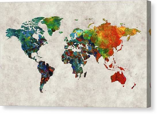 Canvas Print - World Map 61 by World Map