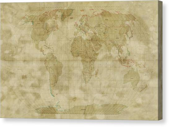 Old world canvas prints fine art america old world canvas print world map antique style by michael tompsett gumiabroncs Images