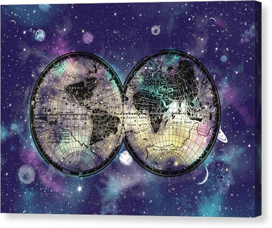 World map wallpaper canvas prints fine art america world map wallpaper canvas print world map galaxy 1 by bekim art gumiabroncs Image collections