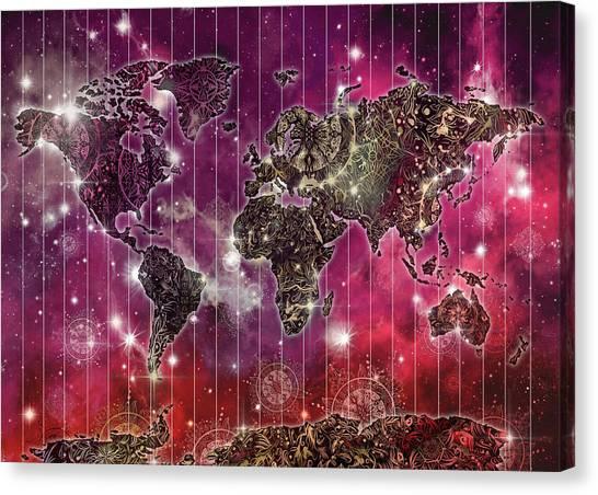 World map wallpaper canvas prints fine art america world map wallpaper canvas print world map mandala space 2 by bekim art gumiabroncs Choice Image