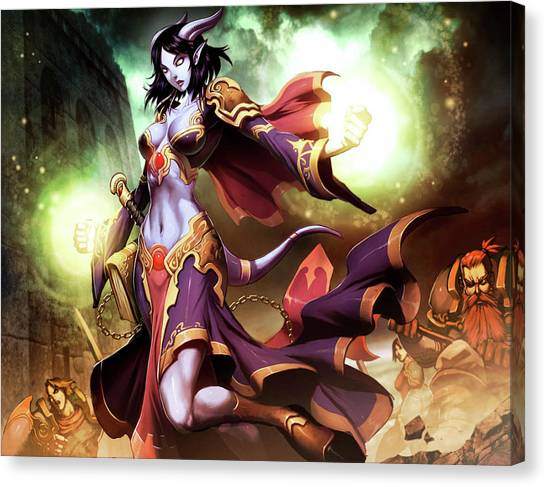 World Of Warcraft Canvas Print - World Of Warcraft by Alice Kent