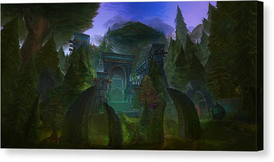 World Of Warcraft Canvas Print - World Of Warcraft Cataclysm by Maye Loeser