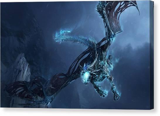 World Of Warcraft Canvas Print - World Of Warcraft Dragon by Emma Brown