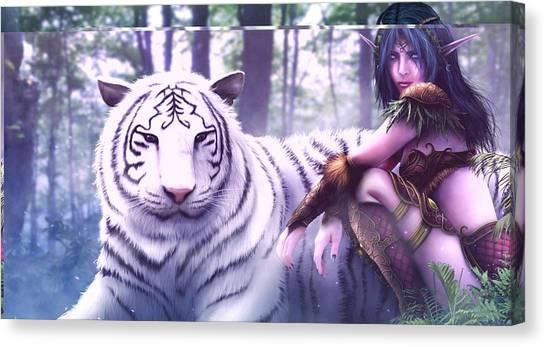 World Of Warcraft Canvas Print - World Of Warcraft by Kimmy Jardetzky