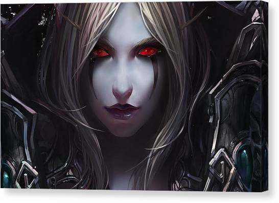 World Of Warcraft Canvas Print - World Of Warcraft by Lonna Egleston
