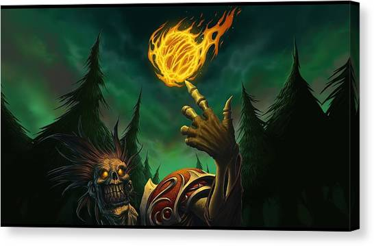 World Of Warcraft Canvas Print - World Of Warcraft Trading Card Game by Super Lovely