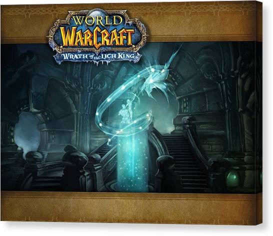 World Of Warcraft Canvas Print - World Of Warcraft Wrath Of The Lich King by Dorothy Binder