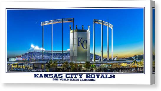 Kansas City Royals Canvas Print - World Series Champs by Tracy Rollins