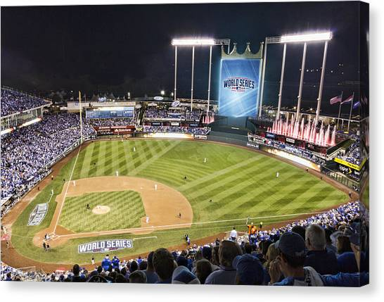 Kansas City Royals Canvas Print - World Series Game 2 by Corey Cassaw
