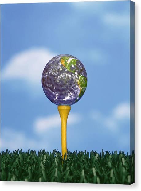 World Teed Up Canvas Print