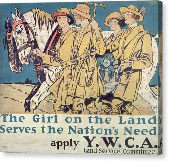 Feminist Canvas Print - World War I Ywca Poster  by Edward Penfield