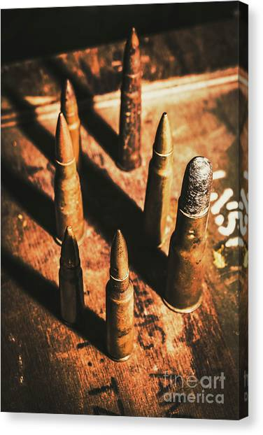 Shotguns Canvas Print - World War II Ammunition by Jorgo Photography - Wall Art Gallery