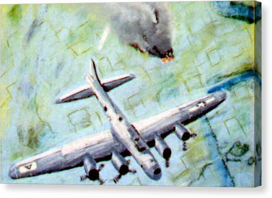 World War II Bombing Raid Canvas Print by Stan Hamilton