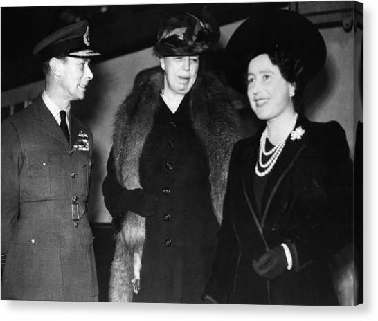 First Lady Canvas Print - World War II. King George Vi Of England by Everett