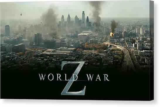 World War Z Canvas Print - World War Z by Dorothy Binder