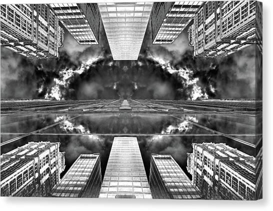 Art Deco Canvas Print - Worlds End  by Az Jackson