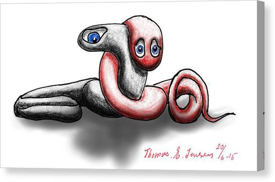 Worm Hug. Canvas Print