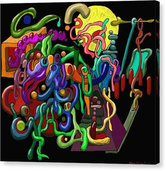 Worm Playground Canvas Print