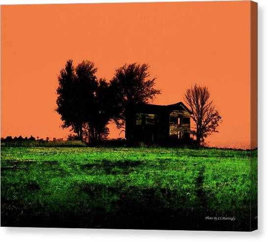 Worn House Canvas Print